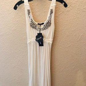 Women's Roman Style Silver and Rhinestone Dress